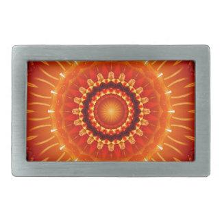 Mandala independence orange created by Tutti Rectangular Belt Buckle