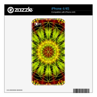 Mandala independence with flower of life by Tutti Decal For iPhone 4