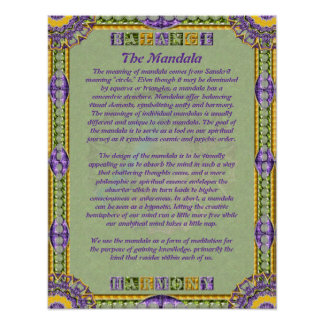 Mandala Informational Poster