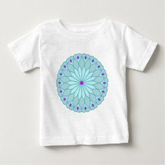 Mandala Inspired Baby Blue Flower T-shirt