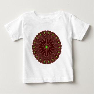 Mandala Inspired Burgundy Wine Flower T-shirt