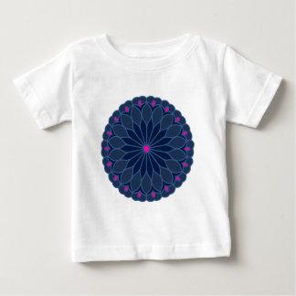 Mandala Inspired Dark Blue Flower Tee Shirt