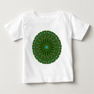 Mandala Inspired Hunter Green Flower Shirt