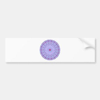 Mandala Inspired Lavender Flower Bumper Sticker