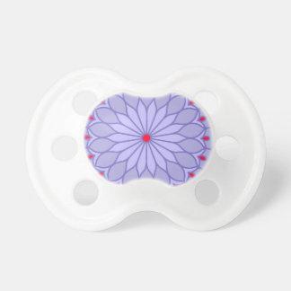 Mandala Inspired Lavender Flower Pacifier