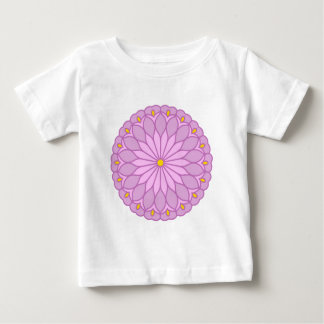 Mandala Inspired Lilac Pink Flower Tee Shirt