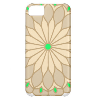 Mandala Inspired Pale Beige Flower Cover For iPhone 5C
