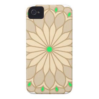 Mandala Inspired Pale Beige Flower iPhone 4 Case-Mate Case