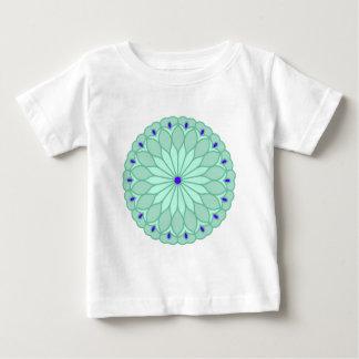 Mandala Inspired Pale Blue Flower Tee Shirt