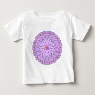 Mandala Inspired Pale Lavender Flower T-shirt