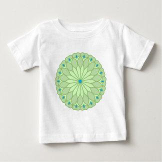 Mandala Inspired Pale Sage Flower T Shirt