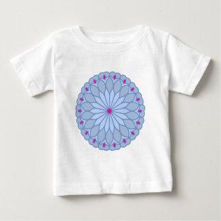 Mandala Inspired Periwinkle Flower Infant T-shirt