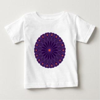 Mandala Inspired Purple Flower Tee Shirt