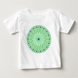 Mandala Inspired Sea Green Flower T-shirt