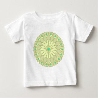 Mandala Inspired Subtle Cream Flower Infant T-shirt