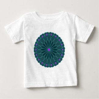 Mandala Inspired Teal Blue Flower Infant T-shirt