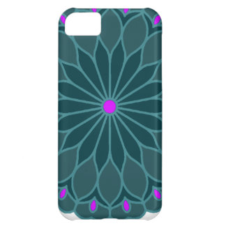 Mandala Inspired Teal Blue Flower iPhone 5C Cover