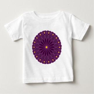Mandala Inspired Violet Flower T-shirt
