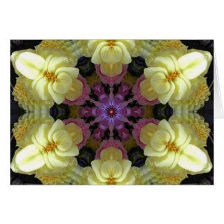 Mandala interna de la sabiduría tarjeta de felicitación