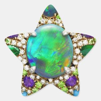 Mandala Jeweled Pegatina En Forma De Estrella