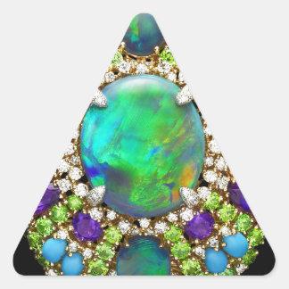 Mandala Jeweled Pegatina Triangular