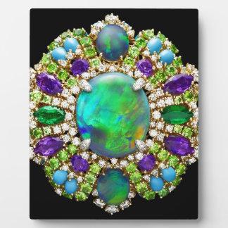 Mandala Jeweled Placas