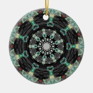 Mandala julio de 2013 adorno navideño redondo de cerámica