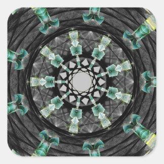 Mandala julio de 2013 pegatina cuadrada