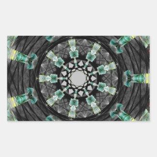 Mandala julio de 2013 pegatina rectangular