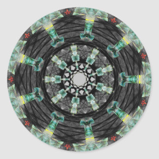 Mandala julio de 2013 pegatina redonda