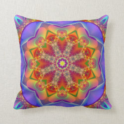 Mandala Kaleidoscope Design MF17 Throw Pillow