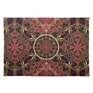 Mandala, Kaleidoscope Tapestry Cross Abstract Cloth Placemat
