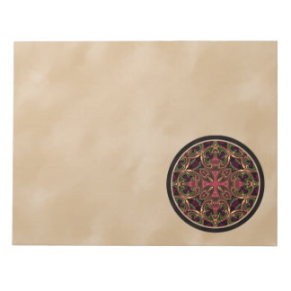 Mandala Kaleidoscopic Cross Abstract Note Pads