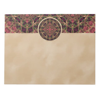 Mandala Kaleidoscopic Cross Tapestry Abstract Notepads