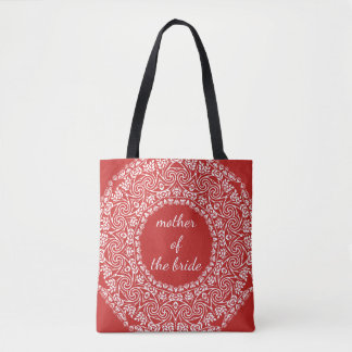 Mandala Lace Mother of The Bride Wedding Swirl Tote Bag