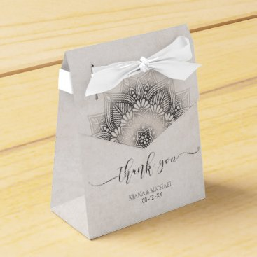 Wedding Themed Mandala Lace Wedding Favors Neutrals ID478 Favor Box