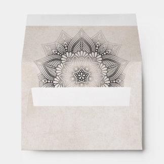 Mandala Lace Wedding Neutrals ID478 Envelope