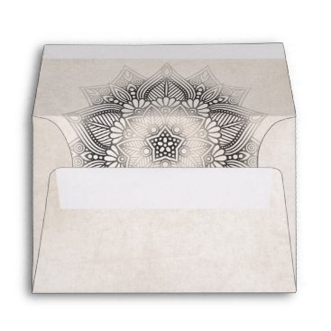 Wedding Themed Mandala Lace Wedding Neutrals ID478 Envelope