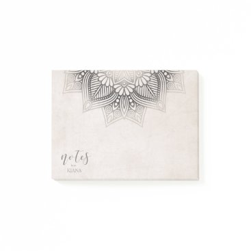 Wedding Themed Mandala Lace Wedding Neutrals ID478 Post-it Notes
