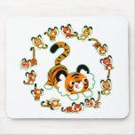 Mandala linda de los tigres del dibujo animado Mou Tapete De Ratón