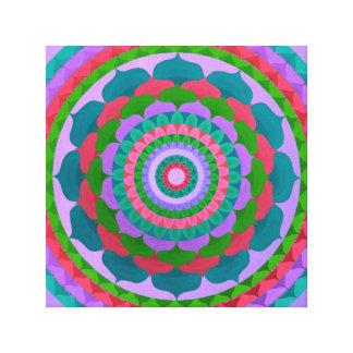 Mandala llamativa de la flor lienzo envuelto para galerías