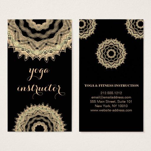 MANDALA LOGO CUSTOMIZED YOGA  INSTRUCTOR BUSINESS CARD