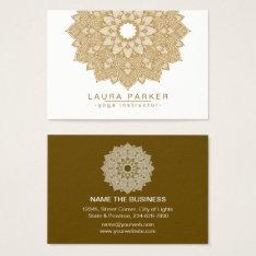Mandala Lotus Flower Yoga Meditation Holistic Business Card at Zazzle