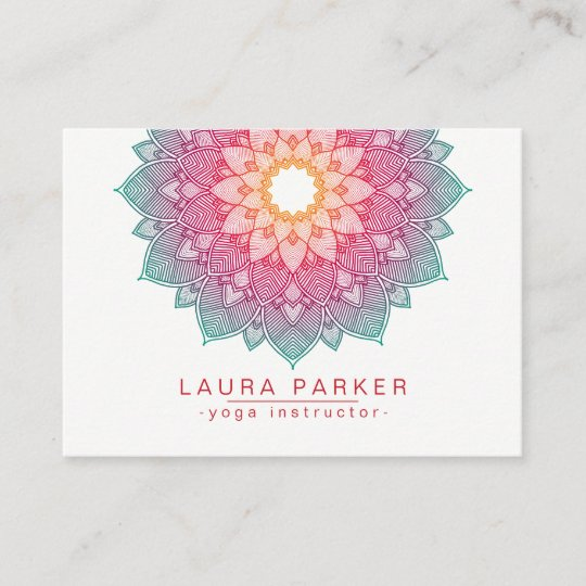 Mandala lotus flower yoga pink holistic business card zazzle mandala lotus flower yoga pink holistic business card colourmoves