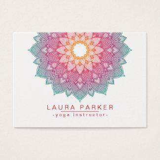 Mandala Lotus Flower Yoga Pink Holistic Business Card