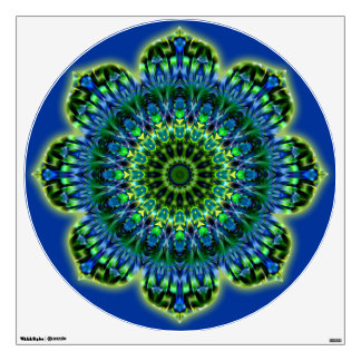MANDALA Lotus - green blue Wall Sticker