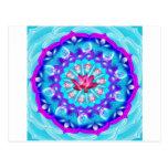 Mandala Lotus rosado Postal