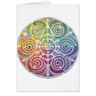 Mandala mágica de la rueda de color tarjeton