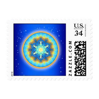 Mandala mágica de Merkaba de la luna Estampillas