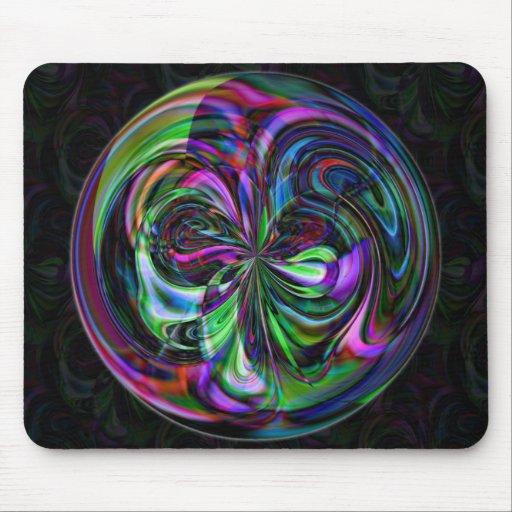Mandala mágica del bastón - fractal Mousepad Tapetes De Raton